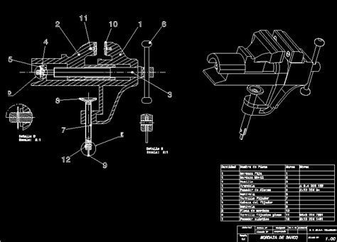 vice bench vice dwg section  autocad designs cad