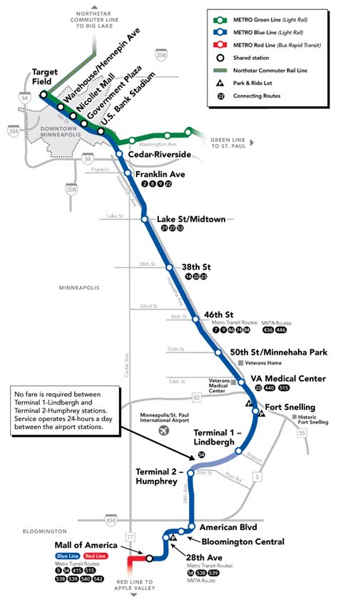 Blue Line Light Rail by Blue Line Map Metro Transit