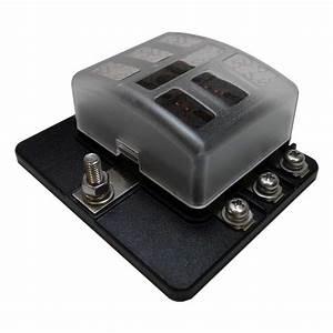Universal 6 Way Covered 12v Circuit Blade Fuse Box Block