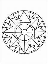 Coloring Pages Simple Mandala Adult Printable Adults Recommended sketch template