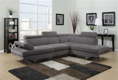 gray sectional sofas deco in canape d angle design tissu rubic gris