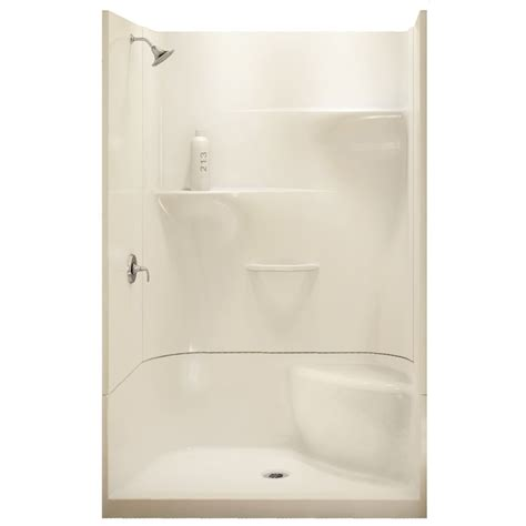 Shower Stall Kits Canada by Maax Adesso White 34 In X 48 In 4 Piece Alcove Shower Kit
