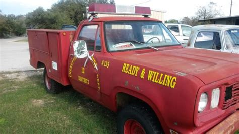 dodge  ton  truck utility bed   fire