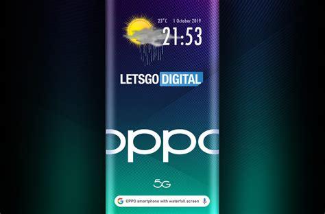 oppo smartphone met sensoren onder  waterfall display