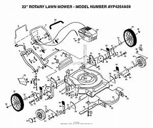 Ayp  Electrolux 4254a59  1999  U0026 Before  Parts Diagram For 22 U0026quot  Rotary Lawn Mower