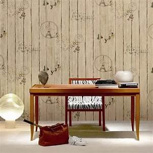 Papier Peint Imitation Lambris : papier peint imitation lambris en pvc effet 3d pour d corer le mur int rieur dk se451303 ~ Melissatoandfro.com Idées de Décoration