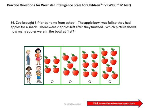 iq test for preschoolers practice questions for the wics iv grade to second 346