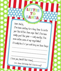 another super cute santa wish list prontable plus this With letter to santa set