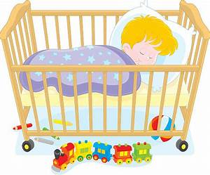 Royalty Free Baby Sleeping In Cot Clip Art, Vector Images ...