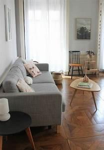 le parquet massif ideal pour votre interieur commode With salon avec parquet
