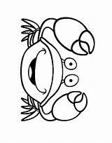 Crab Coloring Coloring2print sketch template