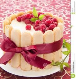 Raspberry Charlotte Cake