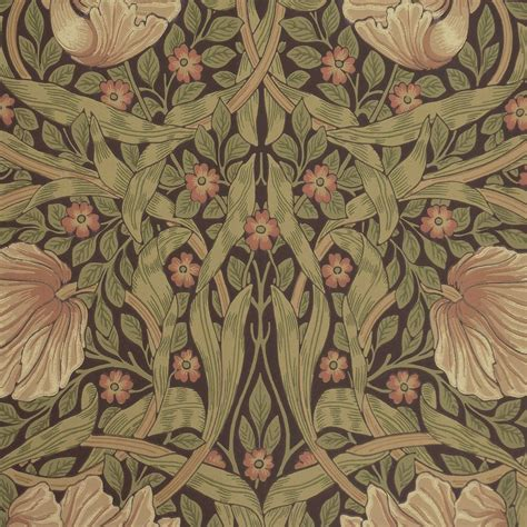 pimpernel wallpaper bullrush russet 210387 william morris co archive wallpapers collection
