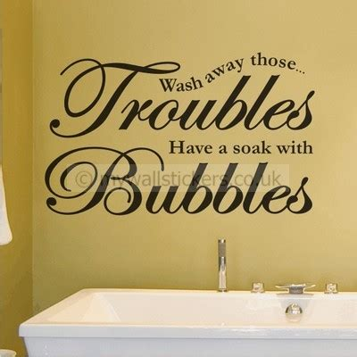 Wash Away Those Troubles Wall Sticker