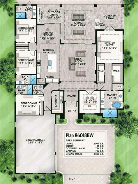 plan bw striking florida house plan   florida house plans house plans house