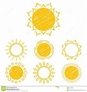 Abstract Symbols Of The Sun Stock Vector - Image: 61992869