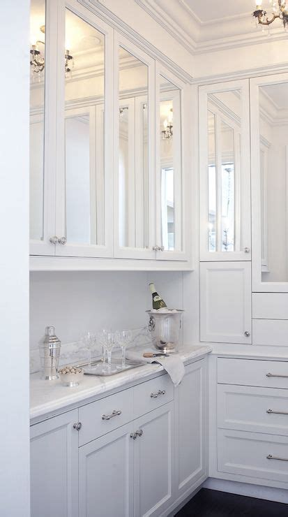 Mirror Kitchen Cabinet by Leo Designs Chicago Kitchens Cabinets For Side