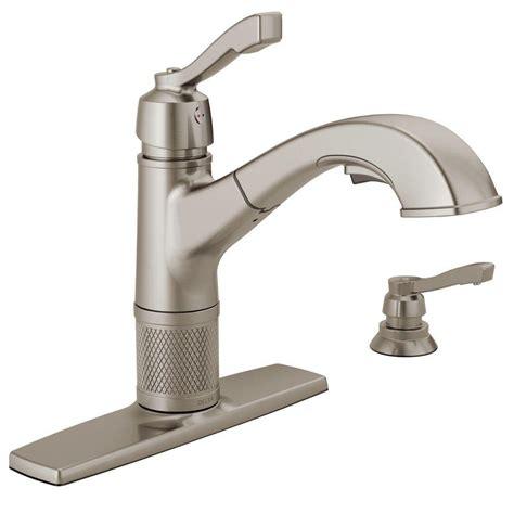 Delta Kitchen Faucets Installation by Delta Allentown Single Handle Pull Out Sprayer Kitchen