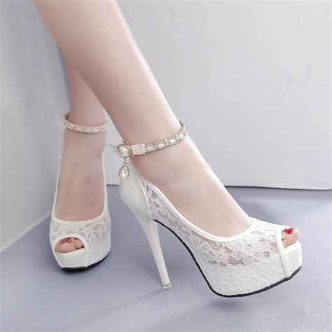 Wedding High Heels ruideng high heel wedding pumps 12cm peep toe