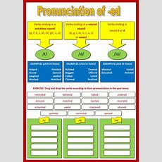 Pronunciation Of Ed  Interactive Worksheet