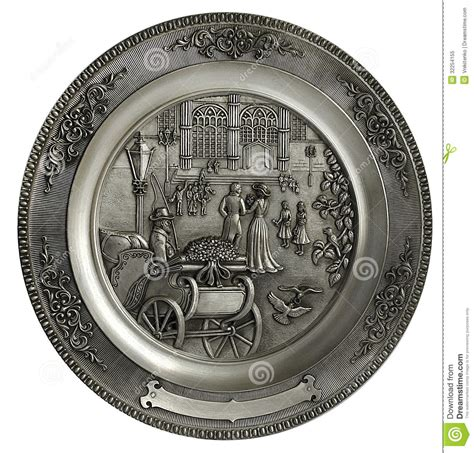 decorative wedding plates wedding wall plate on a white background royalty free
