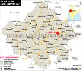 Jaipur India Map