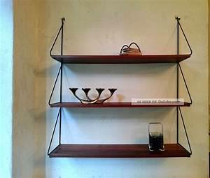 Regal 50 X 60 : midcentury wandregal 50er 60er teak string ra 50s 60s vintage shelf ~ Markanthonyermac.com Haus und Dekorationen