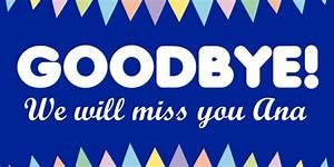 goodbye banner template sign4x With farewell banner template