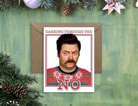 ron swanson ugly sweater swanson card sweater card