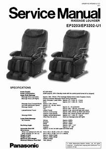 Panasonic Ep3203 Ep3202 Massage Lounger Chair Service
