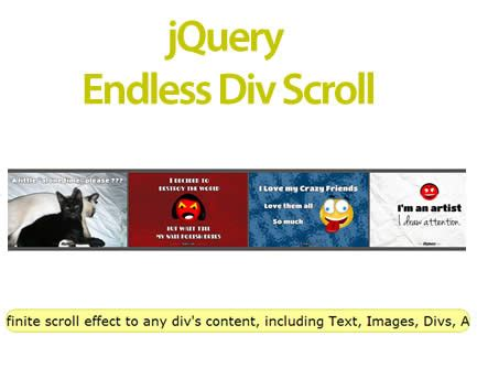 Jquery Scrolling Div by Infinite Scroller Jquery Plugins