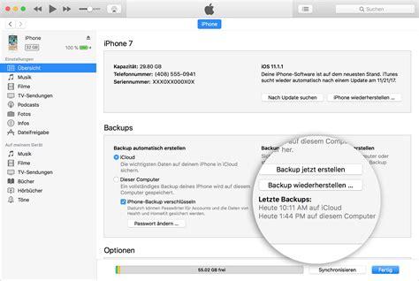 backup an iphone ein backup eines iphone oder ipod touch erstellen