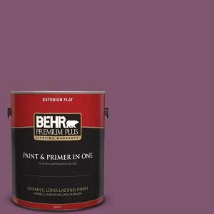 behr premium plus 1 gal m110 7 euphoric magenta flat exterior paint 430001 the home depot