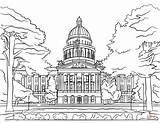 Coloring Capitol California State Dibujos Capitolio Colorear Drawing Printable Ausdrucken Kalifornia Dot Paper Drukuj Categorias Ausmalbild sketch template