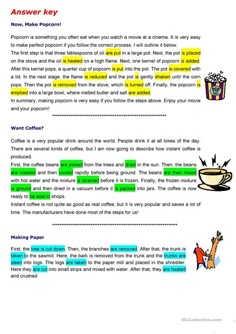 The Passive To Describe Process Worksheet  Free Esl Printable Worksheets Made By Teachers