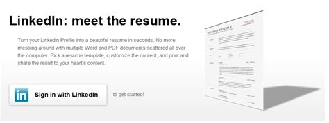 Create Your Resume From Linkedin by Create Your Resume In Seconds Using Linkedin