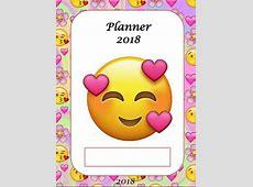 Planner para professores 2018 Tema EMOJIS