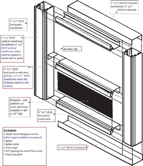 porch screening materials screened wall systems