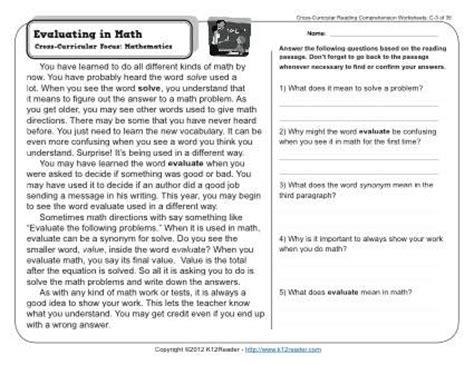 3rd grade reading comprehension worksheets worksheets for