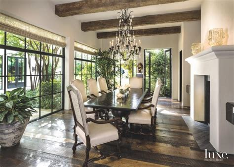 dining room decor formal living dallas mediterranean fireplace rooms plant furniture interior define luxe fireplaces table area luxesource tables robert
