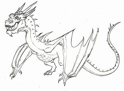 Smaug Dragon Coloring Drawing Pages Lineart Deviantart