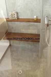 Etagere Dans La Douche : banc de douche rabattable et tag re en teck massif ~ Edinachiropracticcenter.com Idées de Décoration