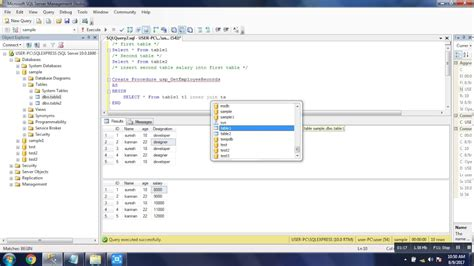 join two tables in r sql server stored procedure for join two tables inner join