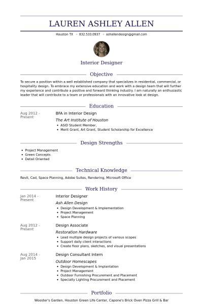 cv interior designer template interior designer resume sles templates visualcv