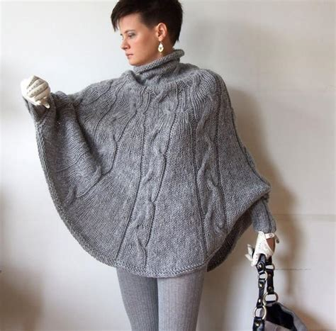knitted poncho braided cape sweaterfall fashion cabled