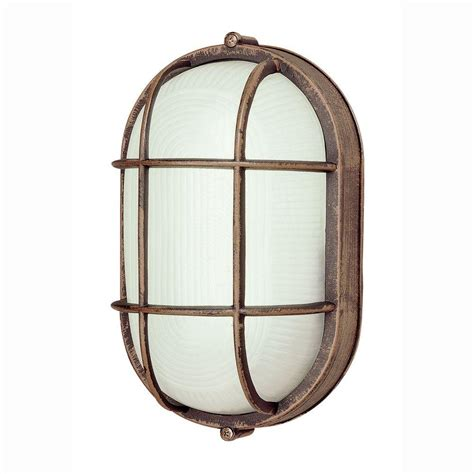 bel air lighting bulkhead 1 light outdoor rust wall or