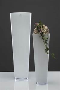 Glasvase 50 Cm Hoch : glasvase xxl glas vase blumenvase bodenvase konisch milchglas wei 50 cm ~ Bigdaddyawards.com Haus und Dekorationen