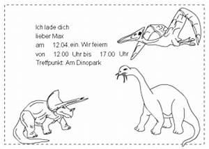 Dino Basteln Vorlage : dinosaurier einladung ~ Lizthompson.info Haus und Dekorationen