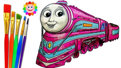 draw train thomas  friends trains video  kids coloring pages caitlin youtube