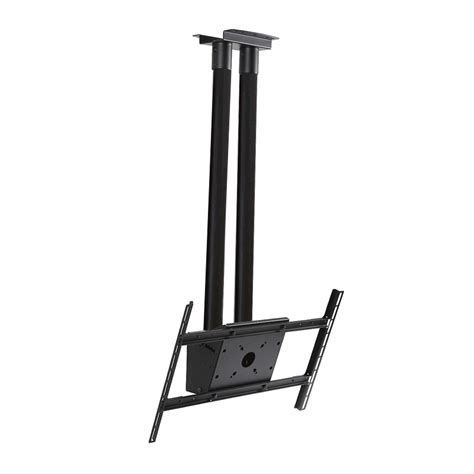 Peerless Ceiling Pole Mount peerless modular series dual pole ceiling tv mount kit